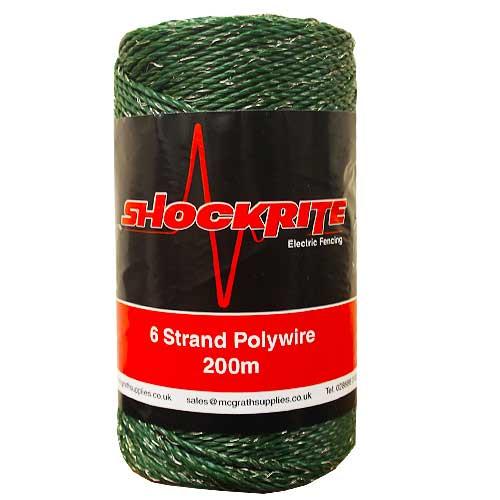 200m Green Polywire