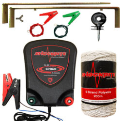 SRB60 Energiser, Insulators, Earth Stake and Connection Cables