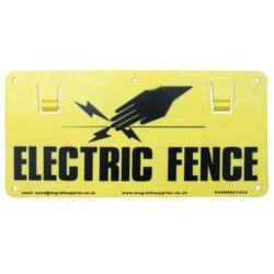 Electric Fencing Warning Sign