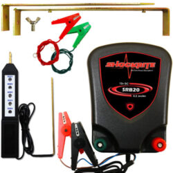 ShockRite SRB20 Energiser, Electric Fence Tester, Earth Stake and Connection Cables